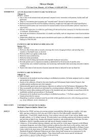 Patient Care Technician Resume Samples