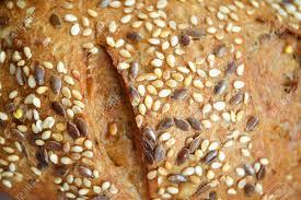 100 Golden Crust Sesame Bun With Golden Crust Close Up View From Top Texture