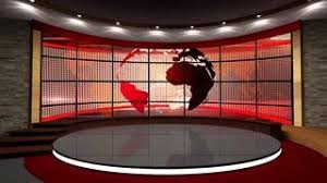 News TV Studio Set 133