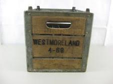 Vintage 1968 Westmorleand Wooden Milk Crate