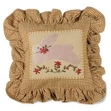 Primitive Pictures For Living Room by Primitive Country Calico Bunny Wool Pillow For Your Living Room