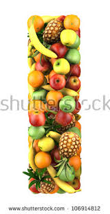 Letter From Fruit Stock Royalty Free & Vectors