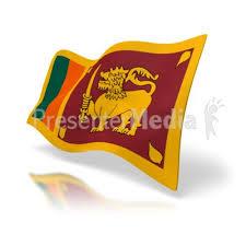 Sri Lanka Flag Perspective Anim