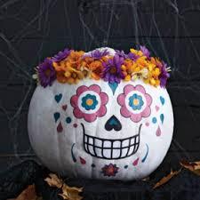 Sugar Skull Pumpkin Carving Patterns by Holiday Decor Ideas Trendir