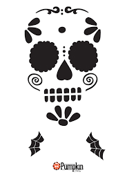 Pumpkin Carving Stencils 2015 easy sugar skull 7 u2026 pinteres u2026