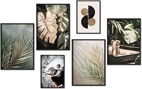 myestado premium poster set bilder wohnzimmer modern schlafzimmer bild für ihre wand ohne rahmen 4 x din a3 2 x din a4 ca 30x42 21x30
