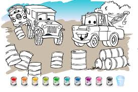 Disney Cars Coloring Games Online