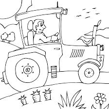 Coloriage Tracteur Champ Oiseaux 30 à Imprimer Pour Les Enfants Dessin