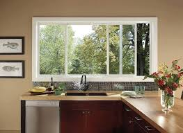 Kitchen Captivating Window Designs Applied At Minimalist Decor Enhanced With Charming Vase Placed