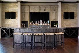 Rustic bar ideas home bar rustic with recycled wood wall