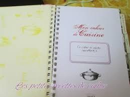 cahier de cuisine à remplir mon livre de cuisine les recettes de caline