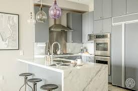 Mid Century Modern Kitchen Design Matte Grey Flat