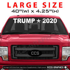 40 Inch WIDE TRUMP 2020 DECAL - 4 SIZES - Car Truck Windshield ...