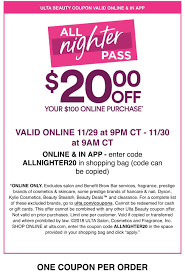 $20 Off $100, 11/29/2018 Only : Ulta 5 Off A 15 Purchase Ulta Coupon Code 771287 First Aid Beauty Coupon Code Free Coupons Website Black Friday 2017 Beauty Ad Scan Buyvia 350 Purchase Becs Bargains Everything You Need To Know About Online Codes 50 20 Entire Laura Mobile App Ulta Promo For September 2018 9 Valid Coupons Today Updated Primer With Imgur Hot 8pc Mystery Gift And Sephora Preblack Up