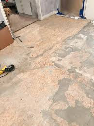 how to remove tile floors the house