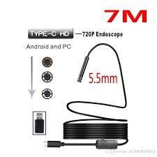 7m Hard Cable Android Pc Type C Usb Endoscope Camera 5 5mm Car