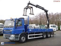 100 Tow Truck Flatbed DAF CF 75310 6x2 RHD Terex TLC 1202E A2 Grapple Flatbed Trucks