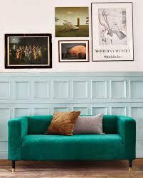 ikea hack klippan zaragoza vintage velvet emerald sofa