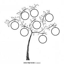 Tree Drawings Black And White Vector Simple Family Drawing Bw Template