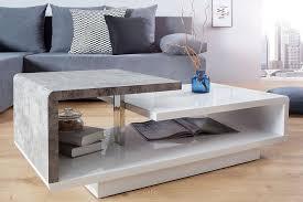 design couchtisch weiss hochglanz betonoptik 100cm dunord