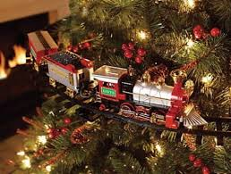 Lighted Sound Ampamp Animated Christmas Tree Train Set Mount To Or Within