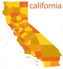 Photo California Vector Map Of Springs