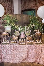 Rustic Elegance Blush Dessert Table Bridal Wedding Shower Party Ideas