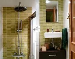 Small Bathroom Pictures Before And After by Before And After Small Bathroom Makeovers Big On Style Small