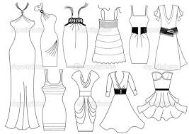 Free Printable Coloring Pages Dresses For Kids In Of