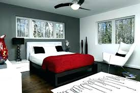 Dark Grey Walls In Bedroom Accent Image Of Awesome Wall With Decor 7