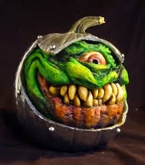 Mike Wazowski Pumpkin Carving Ideas by Think You Have The Scariest Pumpkins On The Block This Man Has