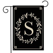 Amazoncom Briarwood Lane Classic Monogram Letter S Garden Flag