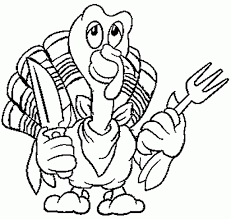 Thanksgiving Turkey Coloring Page For Kids Pages In Preschoolers Pertaining