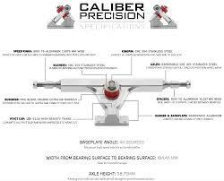 100 Caliber Precision Trucks Truck Truck 160mm Raw Skater Hq Cal Ii 44
