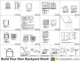 12x16 Gambrel Storage Shed Plans Free by 10x10 Barn Shed Plans Gambrel Shed Plans