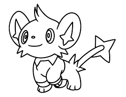 Shinx Pokemon Character Free Coloring Page O Animals Kids