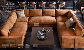 Restoration Hardware Lancaster Sofa Leather by Restoration Hardware Sectional In Italian Destroyed Leather