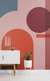 papel pintado formas geométricas coloradas modernas bauhaus