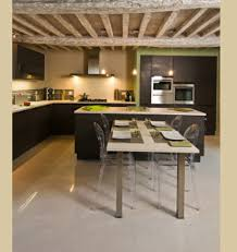 cuisine en u avec table tagre de cuisine gallery indian foods aloo gobi with greens
