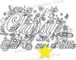 Printable Coloring Pages Swear Word Coloring Pages Swear