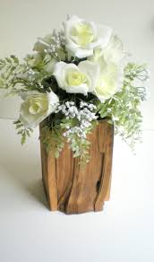Rustic Wedding Wooden Vase Holder Or Home Decor 1695 Via Etsy