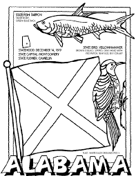 Alabama State Flag Coloring Page 15