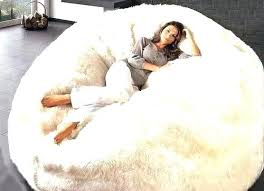 Fluffy White Bean Bag Large Chair About Remodel Stylish Home Interior Design