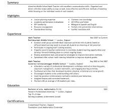 Early Childhood Teacher Resume Download Sample Cover Letter