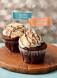 Bailey s Chocolate and caramel Birthday Cupcakes