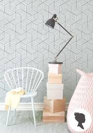 Temporary Wall Paper Removable Wallpaper Cube Pattern Geometric Traditional Or Self Adhesive Target