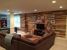 Pallet Living Room Accent Paneled Wall