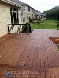 deck with many stairs new cedar deck sealed with penofin mission