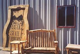 Rustic Style Furniture In Dolores Colorado Received A Demonstration Grant To Improve Marketing They Utilize Aspen Mainly Little Small Diameter Pine