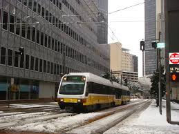File DART rail in downtown during winter JPG Wikimedia mons